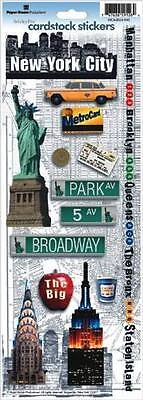 Paper House New York City #1 Travel Vacation Cardstock Scrapbook Stickers