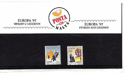 Malta 1997 Europa Presentation Pack SG 1046 - 1047 Unmounted Mint