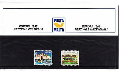 Malta 1998 Europa Presentation Pack SG 1075 - 1076 Unmounted Mint