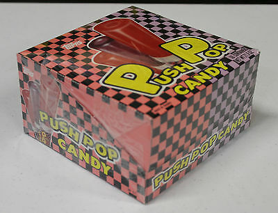 FULL BOX: PUSH POP grape cherry 1989 vintage TOPPS candy 36 count