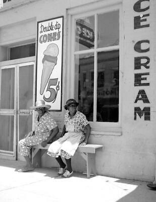 "1940 Ice Cream Parlor, Port Gibson, Mississippi Vintage Old Photo 8.5"" x 11"""