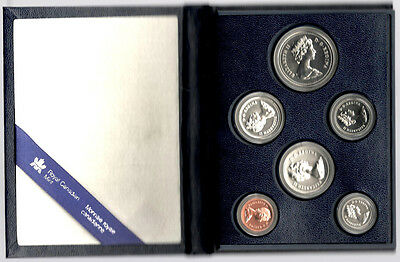 1981 Royal Canadian Mint 6 Coin Specimen Set With Coa - Beautiful Nos