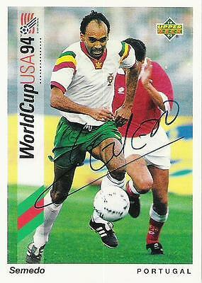 An Upper Deck World Cup USA 1994 card signed by Semedo of Portugal.