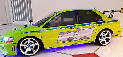 RC 10th scale FAST AND FURIOUS MITSUBISHI EVO stickers decals DRIFTING JDM