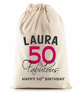 PERSONALISED 30th 40th 50th 60th BIRTHDAY GIFT BAG, SACK, Various sizes, 21st