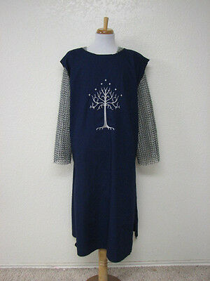 LOTR Inspired Medieval Knight Surcoat Tunic Aragorn White Tree of Gondor Tabard