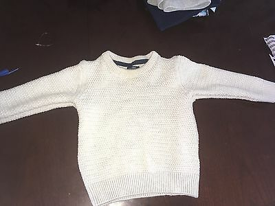 Next Cream Cable Knit Jumper 12-18 Months