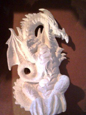 Standing Dragon ready to paint ceramic bisque Mythical animal Handmade 6.25 Inch