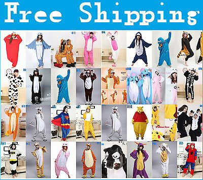 Unisex Adult Pajamas Kigurumi Cosplay Costume Animal Onesie Sleepwear 2017 Hot