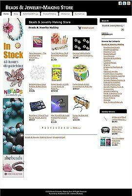 Beads & Jewelry-Making Store -Established Affiliate Website Business