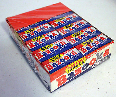 FULL BOX: rare BAZOOKA nos 1989 vintage TOPPS candy w/ 24 count BUBBLE GUM