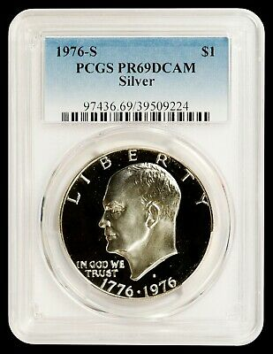 1976 S $1 Silver Ike Eisenhower Dollar Proof PCGS PR69DCAM : TOP SOURCE FOR IKES