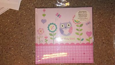 CR Gibson Our Baby Girl Pink Owl Recordable Keepsake Book Photo Album New