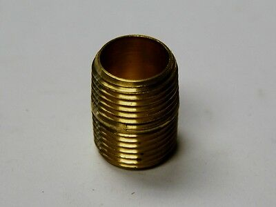 "Brass Fittings: Brass Close Nipple, Male Pipe 3/4"" Qty. 25"