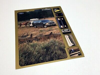 2000 Ford Excursion Expedition Explorer Accessories Information Sheet Brochure