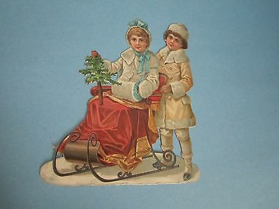 Early Antique Victorian C.D. Kenny Teas and Coffee Advertising Die Cut Piece
