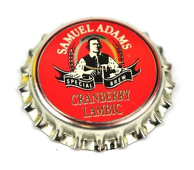 Samuel Adams Beer Bier Kronkorken USA Bottle Cap Plastikdichtung - Cranberry