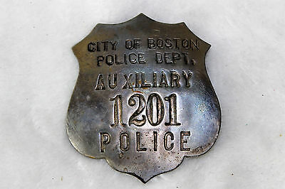 Obsolete  City Of Boston Auxiliary Police Badge
