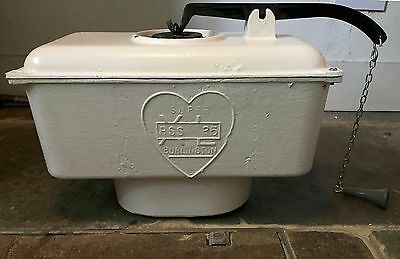 Antique Burlington Cast Iron High Level Toilet Cistern