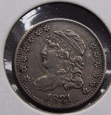 1831 5c Capped Bust Silver Half Dime  XF