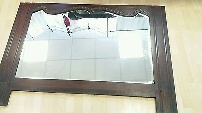 Large Victorian mahogany over mantle mirror