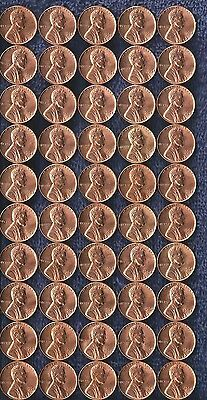 1964 Lincoln Pennies 50 Coin Lot (Good Red Color) Unc