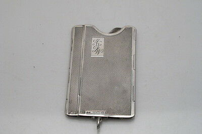 Art Deco Silver Folding Cigarette Case 1938 Deacon Francis Rare