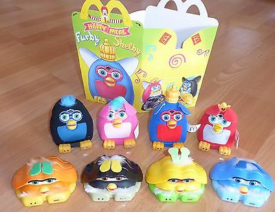 Happy meal furby shelby figures (8 toys + 4 carrier bags)