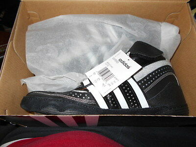 New Adidas Extero Wrestling Lutte  8 1/2 Black / White Adidas Shoes
