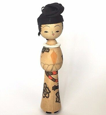 Vintage Kokeshi Japanese Antique Wooden Doll