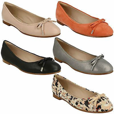 Ladies Clarks Leather Ballet Shoes /'Alicia Amy/'