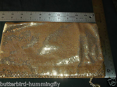 VINTAGE WHITING & DAVIS GOLD MESH Evening Clutch Hand Bag - EUC