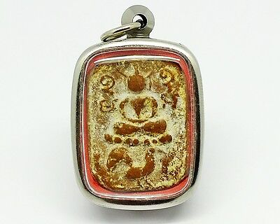 Thailand Amulet Phra Somdej LP.PARN Phim Ride Chicken Pendant Buddha Sacred Old