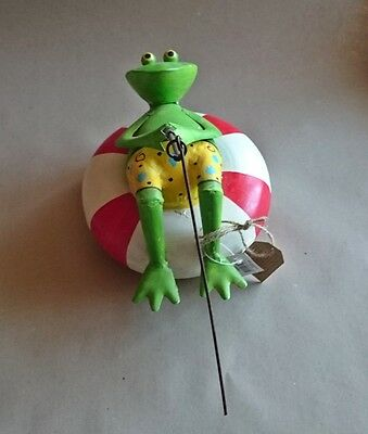 Garden figure Pond frog with Angel NEW ornament Floating