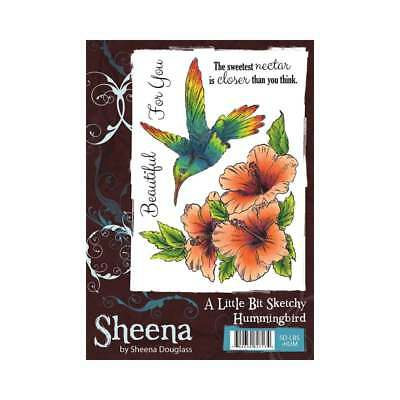 Sheena Hummingbird A Little Bit Sketchy A6 Unmounted Rubber Stamp SD-LBS-HUM