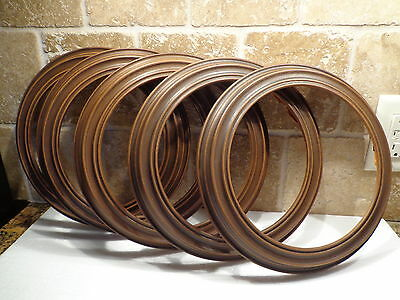 """Lot of 5 THE HAMPSHIRE Faux Wood COLLECTOR PLATE FRAMES fits 8 1/2"""" plates"""