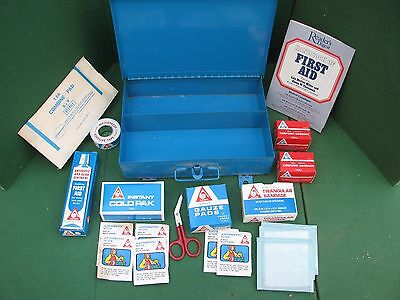 Vintage Acme #25 Industrial First Aid Kit - Fully Stocked