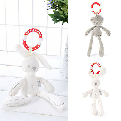 Toddler Pram Stroller Animal Soft Plush Rattles Hanging Bell Baby Teether Toy Ne