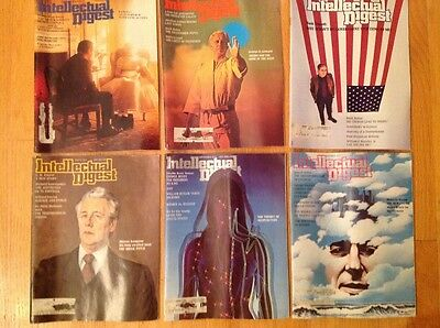 Vintage Lot of 6 Intellectual Digest Magazine 1973 May - October