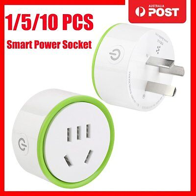 White Mini Smart Wifi Plug Remote Control Socket Power Supply Home Safety AU1