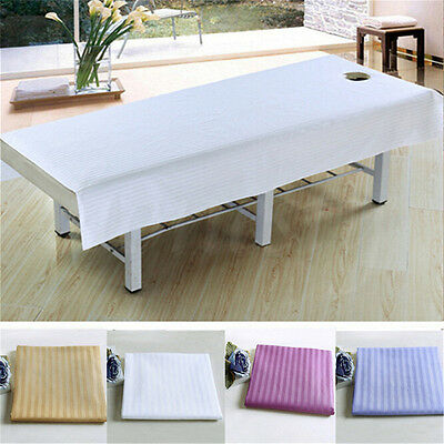 1PC Beauty Massage Bed Table Treatment Couches Elastic Cover Sheet with Hole