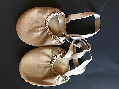 Dance Shoes, Leather Half Sole, Contemporary, Tan