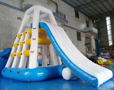 99X30X28 HUGE COMMERCIAL Inflatable Pool Edge Water Slide