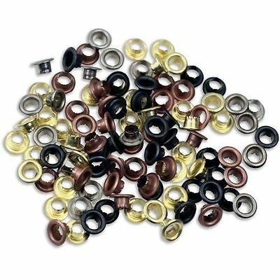 Metal Eyelets Shoes Clothes Crafts - 4 Colors New 100pc 3/16""