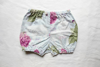 Handmade paris floral baby bloomers / shorts size 6-12months. Vintage style.
