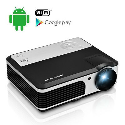 HD LED Heimkino Beamer Android WiFi Projektor Film Video HDMI USB VGA TV 1080p
