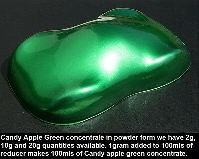 120g Candy Apple Green Concentrate Powder Auto Custom Paint Airbrush HOK