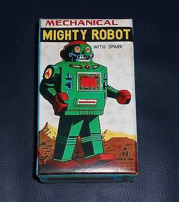 Top Original Karton MIGHTY ROBOT Japan 60er Space Toy Vintage Weltraum Roboter