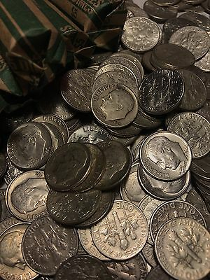 Roll (50) Silver Roosevelt Dimes Circulated Condition