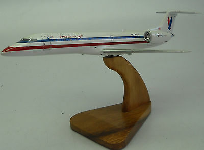 ERJ-1-145 Embraer American Eagle Airplane Desktop Wood Model Small New